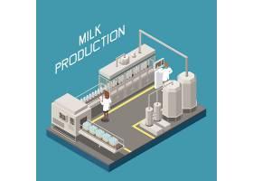 机械化生产主题等距插画设计