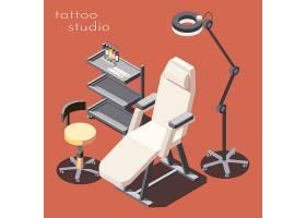 操作椅主题等距插画设计