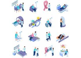 医疗卫生主题等距插画设计