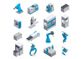 电子机械设备主题等距插画设计