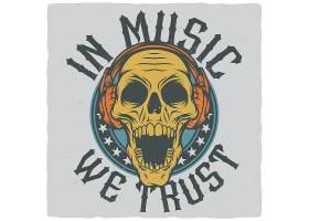 骷髅主题时尚个性T恤印花图案设计