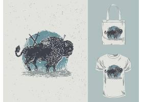 狮子主题时尚个性T恤印花图案设计