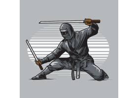 刺客武士主题时尚个性T恤印花图案设计