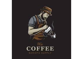 咖啡师主题时尚个性T恤印花图案设计