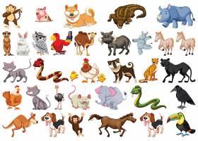 各式卡通动物形象贴纸贴图设计
