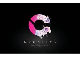 个性中国风英文共生图形主题LOGO徽章图标设计