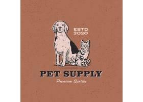 宠物收养形象主题LOGO图标徽章设计