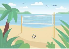 海边沙滩派对度假海岛主题矢量装饰背景
