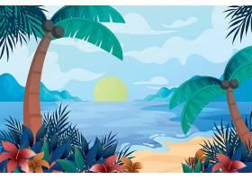 夏日时光度假海岛主题矢量装饰背景