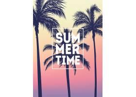 夏日时光椰树主题装饰背景