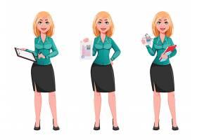 高级女白领主题人物装饰插画设计