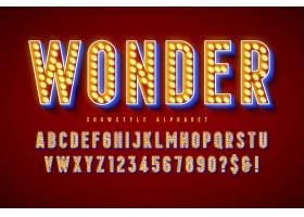 霓虹灯主题英文标题字体样式设计