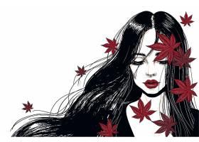 手绘时尚女性插画设计