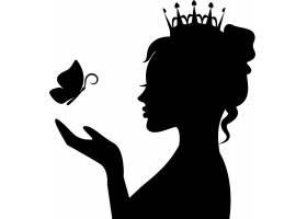 女皇人物剪影素材
