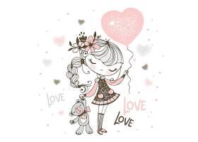 清新唯美的手绘卡通小女孩插画设计