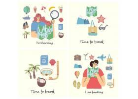 旅游出行主题人物装饰插画设计