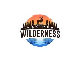 鹿与森林主题LOGO徽章图标设计