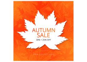 橙色个性秋季枫叶电商促销上新活动横幅banner背景海报模板