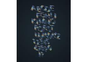 彩色英文艺术字体