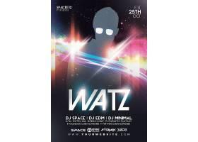神秘嘉宾剪影DJ派对主题海报设计