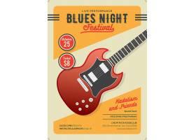 复古个性电吉他元素主题海报设计