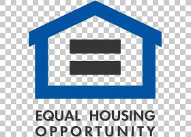 公平住房标志,符号,线路,徽标,组织,标志,文本,面积,角度,蓝色,所图片