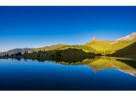 地球,反射,风景,山,风景优美的,森林,天空,云,壁纸,