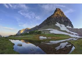 地球,反射,风景优美的,山,湖,自然,水,风景,雪,壁纸,图片