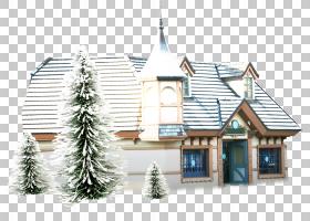 雪圣诞树,圣诞树,财产,回家,立面,房地产,窗口,圣诞节,屋顶,圣诞