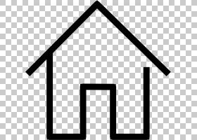 房屋符号,符号,角度,面积,三角形,线路,黑白,家庭自动化工具包,服