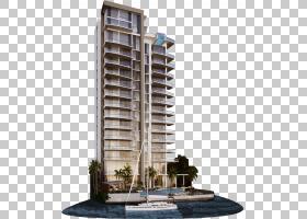 房地产背景,混合使用,公司总部,立面,佛罗里达,顶层公寓,建筑,卧