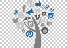 数字营销图标,组织,图标,线路,符号,圆,模式,面积,蓝色,技术,字体