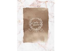 大理石纹理大气婚礼邀请函请柬请帖卡片通用模板设计