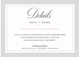 极简白底时尚婚礼邀请函请柬请帖卡片通用模板设计