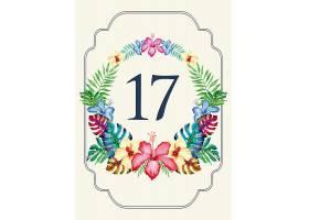 清新植物花卉元素婚礼邀请函请柬请帖卡片通用模板设计