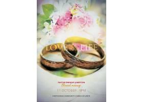 婚礼婚介浪漫主题邀请函海报设计