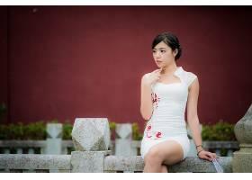 女人,亚洲的,妇女,模特,女孩,白色,穿衣,黑色,头发,壁纸,