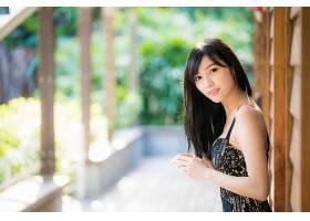 女人,亚洲的,女孩,妇女,模特,深度,关于,领域,黑色,头发,壁纸,(5)