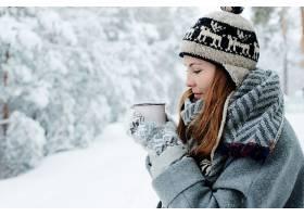 女人,情绪,妇女,模特,女孩,红发的人,冬天的,深度,关于,领域,帽子图片