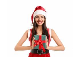 女人,模特,妇女,女孩,微笑,口红,圣诞老人,帽子,黑发女人,长的,头图片