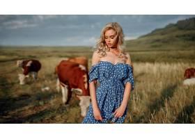 女人,模特,妇女,白皙的,穿衣,深度,关于,领域,女孩,壁纸,