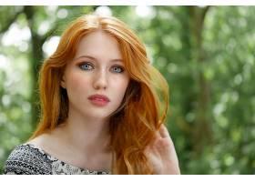 女人,模特,妇女,女孩,红发的人,蓝色,眼睛,脸,Bokeh,壁纸,图片