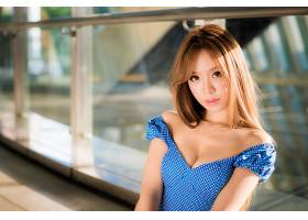 女人,亚洲的,妇女,模特,女孩,棕色,眼睛,深度,关于,领域,壁纸,