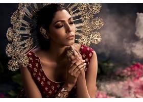 女人,情绪,女孩,模特,印度的,珠宝,妇女,黑色,头发,壁纸,