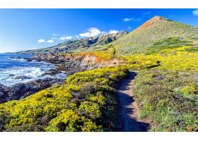 地球,海岸线,风景,山,风景优美的,海洋,悬崖,草,天空,云,壁纸,
