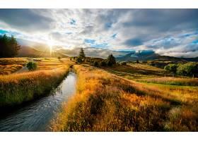 地球,风景,自然,直接热轧制,日落,河,领域,壁纸,