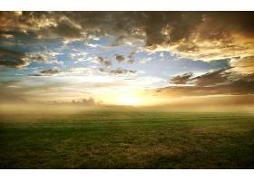 地球,日出,风景,风景优美的,直接热轧制,领域,雾,天空,云,草,壁纸