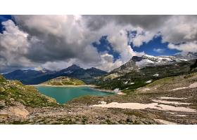 地球,山,山脉,自然,湖,风景,云,壁纸,图片