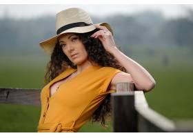 女人,模特,妇女,女孩,帽子,深度,关于,领域,黑色,头发,壁纸,图片