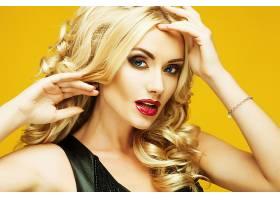 女人,模特,妇女,女孩,白皙的,口红,脸,蓝色,眼睛,壁纸,